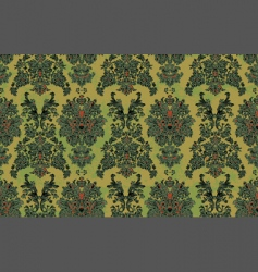 Hand drawn damask pattern vector