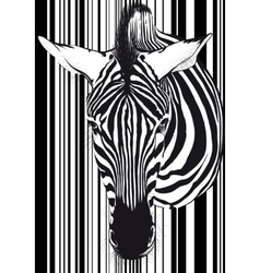Zebra barcode face and neck vector