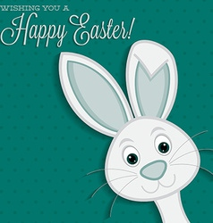 Bright easter bunny card in format vector