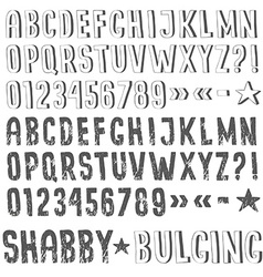 Sans serif grunge alphabet vector