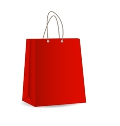 Empty shopping bag for advertising and branding vector