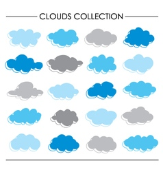 Cloud icon cartoon collection vector
