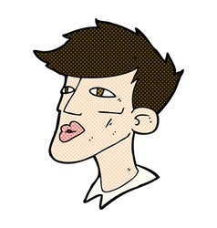 Comic cartoon male model guy vector