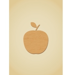 Wooden apple icon vector