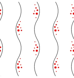 Seamless abstract pattern with lines and red dots vector