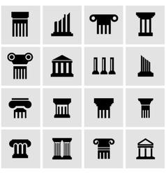 black column icon set vector image