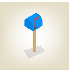 American mailbox isometric vector