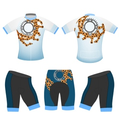 Bike chain cycling vest vector