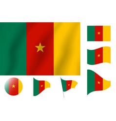 Cameroon flag realistic flag national symbol vector