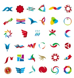 collection of abstract universal character vector image