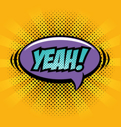 Comic pop art sign vector