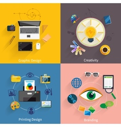 Creative idea branding graphic design icon set vector