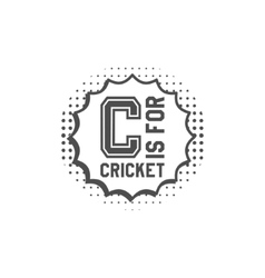 Cricket monogram emblem and design elements logo vector image vector image