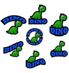 Dinosaur icons vector image vector image