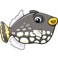 exotic fish cartoon vector image vector image