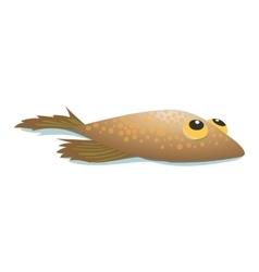 Flounder comic cartoon icon vector