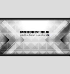 geometric grey background design vector image vector image