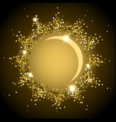 gold shining sun vector image vector image