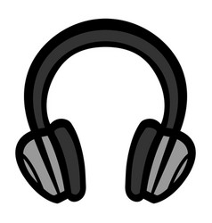 headphones music accessory icon vector image vector image