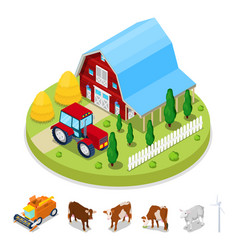 isometric ecology concept renewable energy vector image
