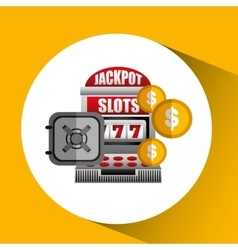 Jackpot machine design vector