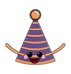 Kawaii party hat decoration ornament image vector