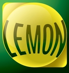 Lemon yellow text abstract logo vector