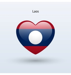 Love Laos symbol Heart flag icon vector image vector image