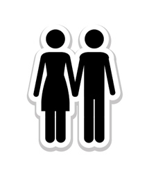 Man woman romantic couple pictogram icon image vector
