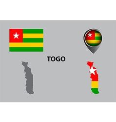 Map of Togo and symbol vector image