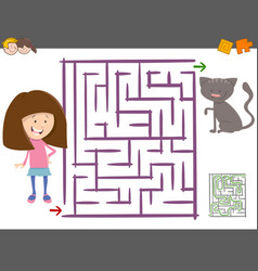 maze activity for children vector image vector image