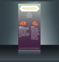 Medical brochure design template flyer with vector