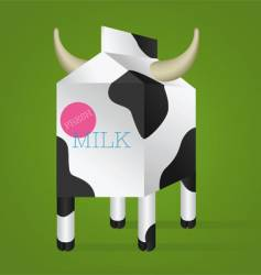 milk box with horns vector image