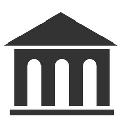 Museum building flat icon vector