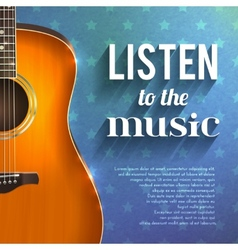 Music background with guitar vector