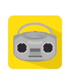 radio retro isolated icon vector image