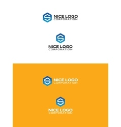 s triangulated logo vector image