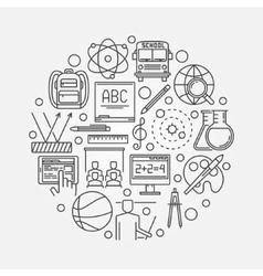 School education round symbol vector image vector image