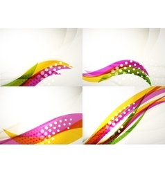 Set of abstract backgrounds elegant colorful vector