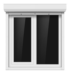 Shutters and plastic window vector image vector image