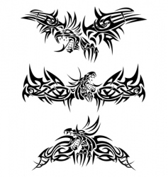 tattoos dragons vector image vector image