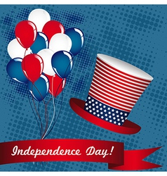 the day of United States independence July 4 vector image vector image