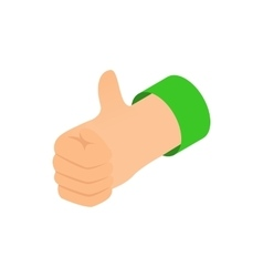 Thumb up icon isometric 3d style vector image vector image