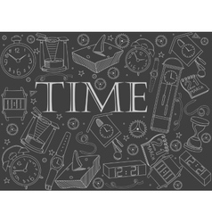 Time chalk vector