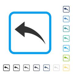 Undo framed icon vector