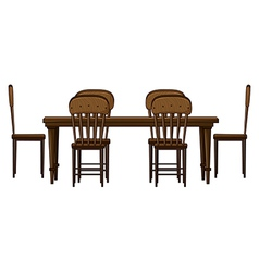 A dinning table vector