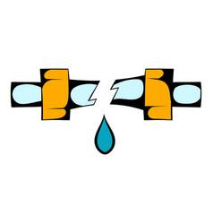 Break trumpet icon cartoon vector