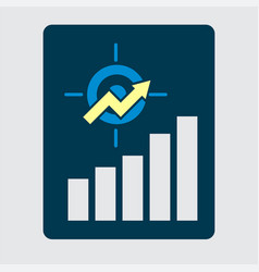 business development strategy emblem investment vector image