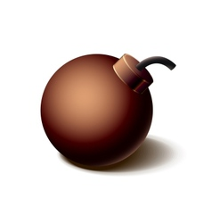 Vintage brown bomb icon isolated on white vector