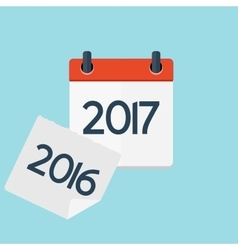 2017 new year calendar flat daily icon template vector